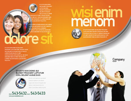 Global Partnership Brochure Template Outer Page