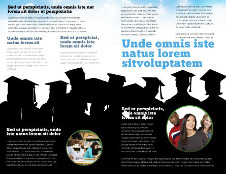 Graduates Brochure Template, Inner Page, 03685, Education & Training — PoweredTemplate.com