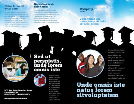 Graduates Brochure Template, Outer Page, 03685, Education & Training — PoweredTemplate.com