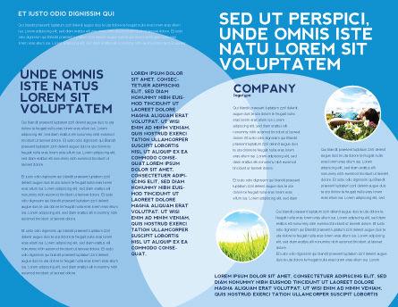Landscape Brochure Template, Inner Page, 03688, Nature & Environment — PoweredTemplate.com