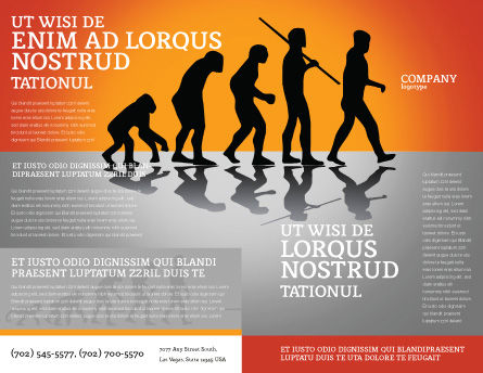 Human Evolution Brochure Template, Outer Page, 03694, Education & Training — PoweredTemplate.com