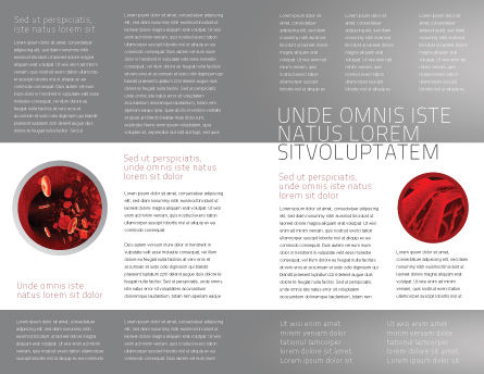 Erythrocytes Brochure Template Inner Page
