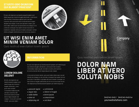 Trend Brochure Template, Outer Page, 03712, Cars/Transportation — PoweredTemplate.com