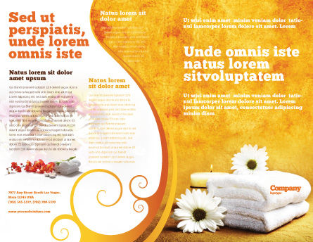 Bath Towels Brochure Template, Outer Page, 03713, Careers/Industry — PoweredTemplate.com