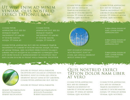 Wind Mills Brochure Template, Inner Page, 03715, Nature & Environment — PoweredTemplate.com