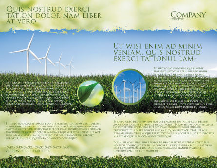 Wind Mills Brochure Template, Outer Page, 03715, Nature & Environment — PoweredTemplate.com