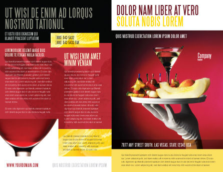 Snacks and Cocktail Brochure Template, Outer Page, 03722, Careers/Industry — PoweredTemplate.com