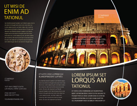 Coliseum Brochure Template Outer Page
