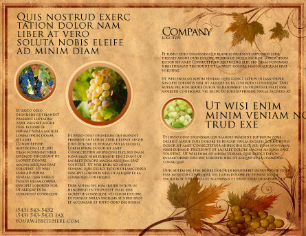 Autumn Theme in Light Brown Brochure Template, Outer Page, 03734, Agriculture and Animals — PoweredTemplate.com