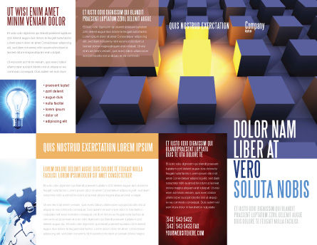 Cubes Brochure Template, Outer Page, 03736, Abstract/Textures — PoweredTemplate.com