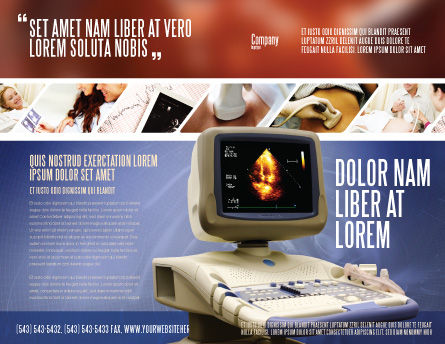 Ultrasound Brochure Template, Outer Page, 03741, Medical — PoweredTemplate.com