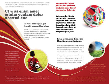World Cup Brochure Template, Inner Page, 03743, Sports — PoweredTemplate.com