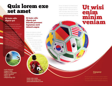 World Cup Brochure Template, Outer Page, 03743, Sports — PoweredTemplate.com
