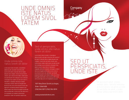Glamour Girl Brochure Template, Outer Page, 03744, Careers/Industry — PoweredTemplate.com