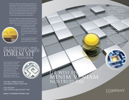 Yellow Ball Brochure Template, Outer Page, 03747, Business Concepts — PoweredTemplate.com