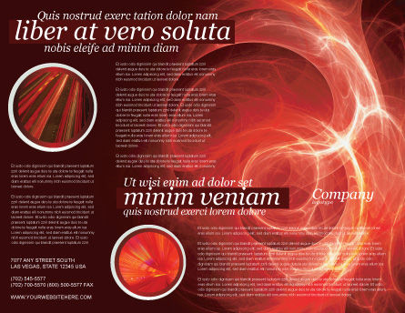 Red Fantasy Brochure Template Outer Page