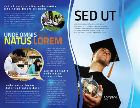 Paid Education Brochure Template Outer Page