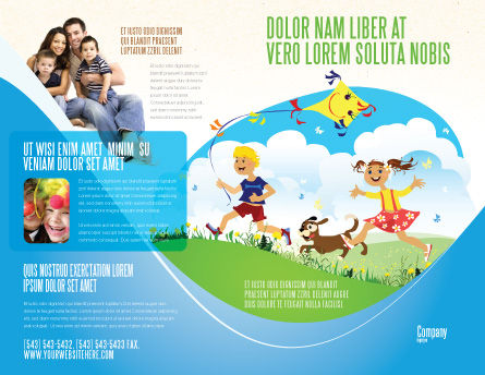 Happy Childhood Brochure Template, Outer Page, 03756, Education & Training — PoweredTemplate.com