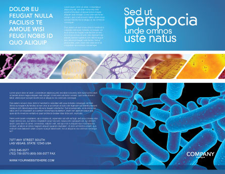 Bacillus Brochure Template, Outer Page, 03757, Medical — PoweredTemplate.com