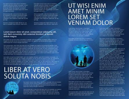 Public Aquarium Brochure Template, Inner Page, 03758, Education & Training — PoweredTemplate.com
