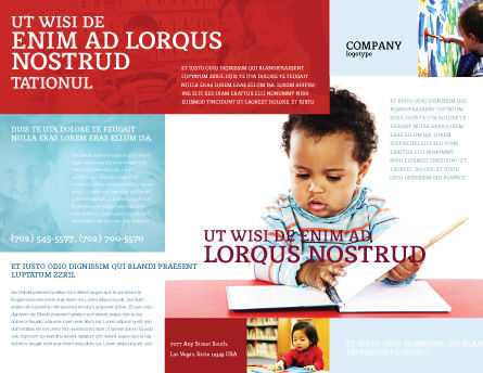 Kid Learning Brochure Template, Outer Page, 03759, Education & Training — PoweredTemplate.com