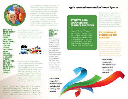 Rainbow Socks Brochure Template, Inner Page, 03760, General — PoweredTemplate.com