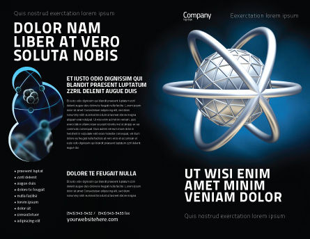 Atom Model Brochure Template, Outer Page, 03763, 3D — PoweredTemplate.com