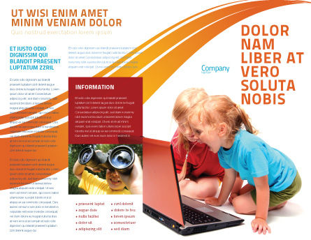 Long Distance Computer Education Brochure Template, Outer Page, 03793, Education & Training — PoweredTemplate.com