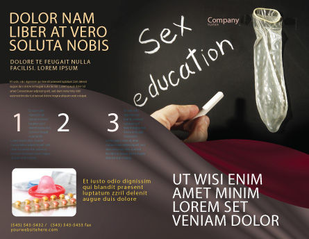 Sex Education Brochure Template, Outer Page, 03797, Education & Training — PoweredTemplate.com