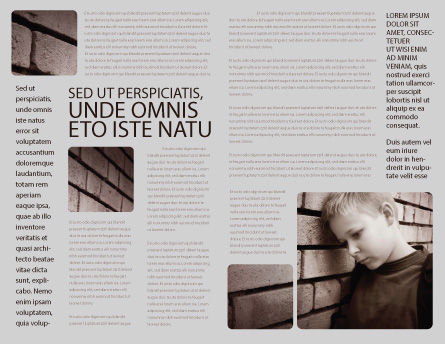 Orphanage Brochure Template, Inner Page, 03798, Consulting — PoweredTemplate.com