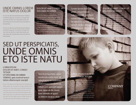 Orphanage Brochure Template Outer Page