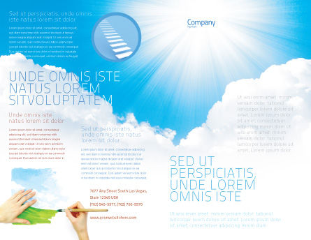 Heaven Brochure Template, Outer Page, 03799, Nature & Environment — PoweredTemplate.com