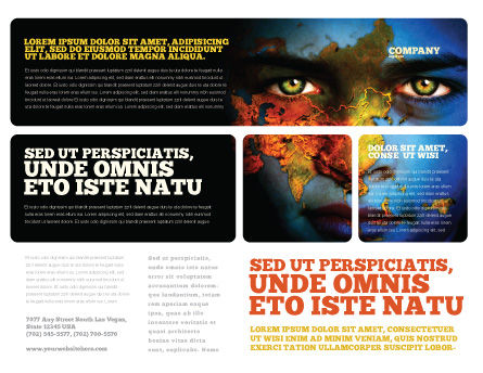 Eyes of Earth Brochure Template, Outer Page, 03807, Nature & Environment — PoweredTemplate.com
