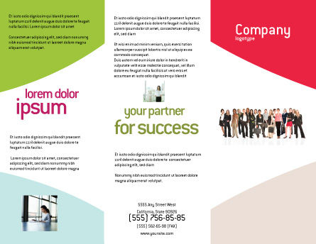 Business Ladies Brochure Template, Outer Page, 03813, People — PoweredTemplate.com