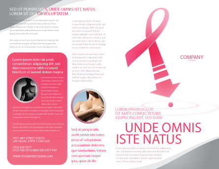 Breast Cancer Ribbon Brochure Template, Outer Page, 03816, Medical — PoweredTemplate.com