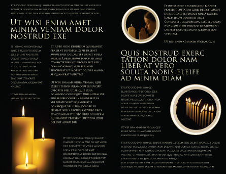 Candles Brochure Template, Inner Page, 03822, Religious/Spiritual — PoweredTemplate.com