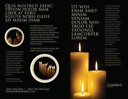 Candles Brochure Template, Outer Page, 03822, Religious/Spiritual — PoweredTemplate.com