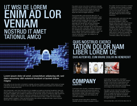 Safe Data Transfer Brochure Template, Inner Page, 03825, Technology, Science & Computers — PoweredTemplate.com