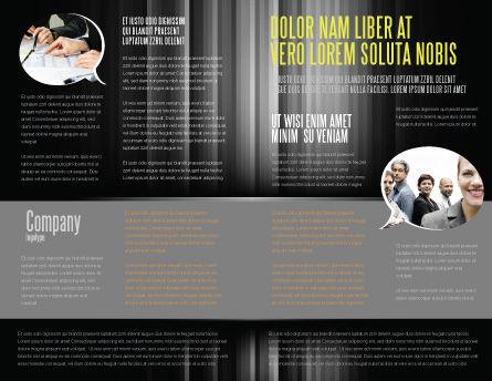 Dialogue Brochure Template, Inner Page, 03826, Business — PoweredTemplate.com