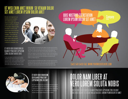 Dialogue Brochure Template, Outer Page, 03826, Business — PoweredTemplate.com