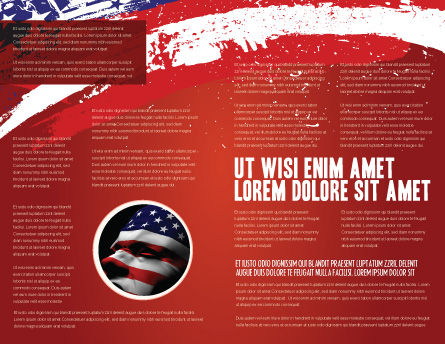 Torn Flag Brochure Template, Inner Page, 03827, America — PoweredTemplate.com