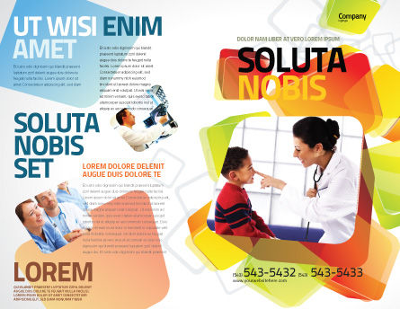 Paediatrist Brochure Template, Outer Page, 03835, Medical — PoweredTemplate.com