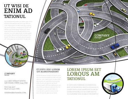 Highway Junction Brochure Template Outer Page