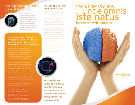 Cerebral Hemispheres Brochure Template, Outer Page, 03840, Consulting — PoweredTemplate.com