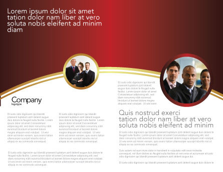 Red Leader Brochure Template, Inner Page, 03853, 3D — PoweredTemplate.com