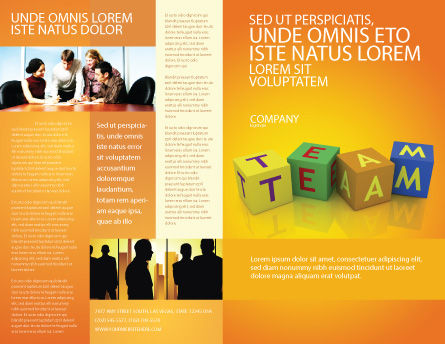 Team Brochure Template, Outer Page, 03855, Business Concepts — PoweredTemplate.com