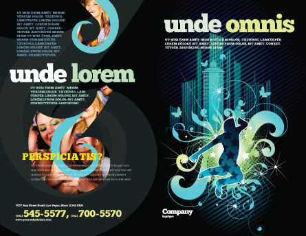 Night City Life Brochure Template Outer Page
