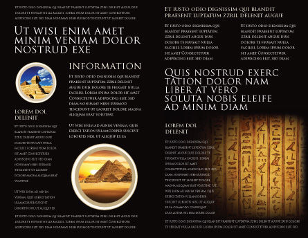 Egyptian hieroglyphs brochure template design and layout for Egypt brochure templates