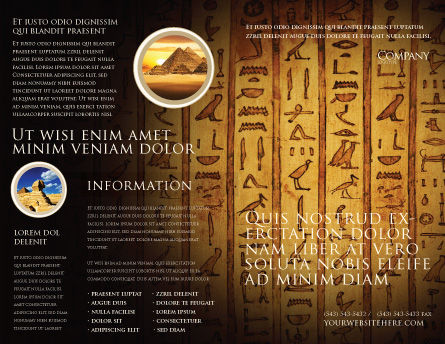 Egyptian Hieroglyphs Brochure Template Outer Page