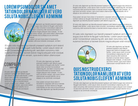 Save the World Brochure Template, Inner Page, 03868, Global — PoweredTemplate.com